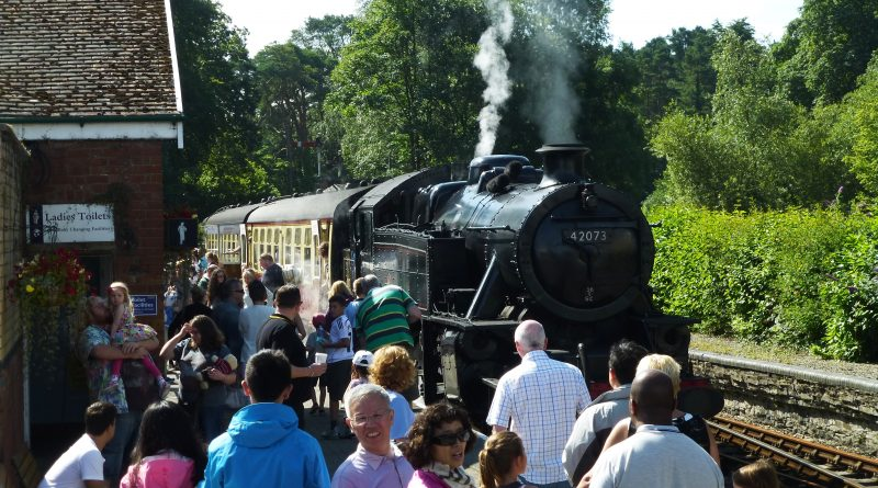 Visitors on platform at Lakeside and Haverthwaite Steam Railway. Photo by Best Places Travel