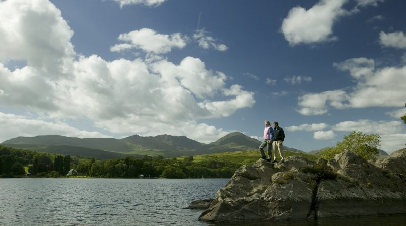 Couple on Peel Island on Coniston Water. Photo by Tony West.